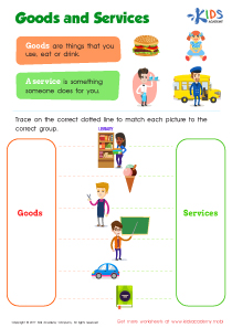 Community helpers worksheet goods and services