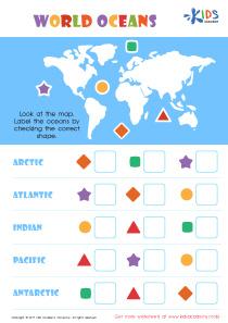 Oceans of the world worksheet