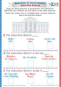 US executive branch worksheet