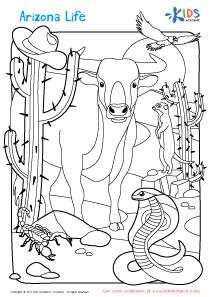 Arizona coloring page
