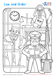 Law and order coloring page