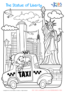 Coloring page of the Statue of Liberty