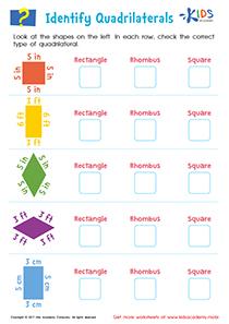 Identify Quadrilaterals Worksheet PDF