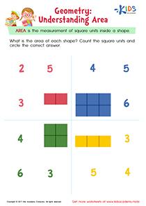 Understanding Area Worksheet for 3rd Grade