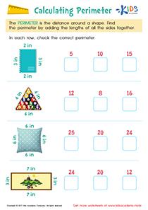 Calculating Perimeter Worksheet Grade 3
