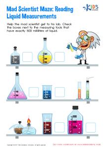 Reading Liquid Measurement Worksheet
