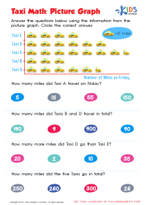 Picture graph worksheet for 3rd