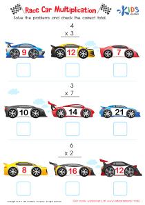 Multiplication PDF worksheets for 3rd grade