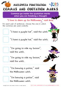 Quotation Marks Worksheet for 3rd Grade
