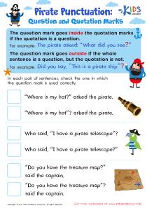 Question and Quotation Marks Worksheets