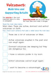 Volcano facts worksheet for 3rd grade