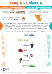 Long and Short Vowel A Worksheet