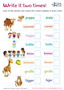 Spelling Practice Worksheets 3rd Grade