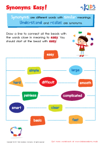 Free synonym worksheets for grade 3