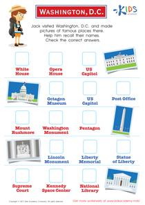 Washington, D.C. printable worksheet