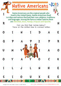 Native American Word Search PDF