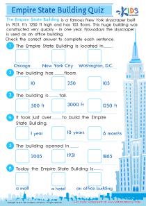 Empire state building printable worksheet