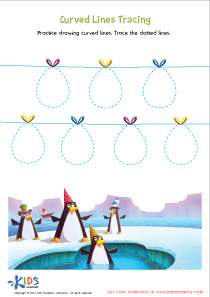 Tracing Сurved Lines Preschool Worksheets