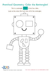 Preschool geometry worksheet