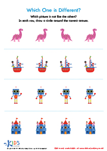 Which one is different worksheet for preschool