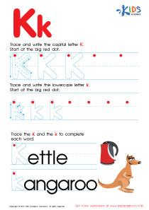 Letter K worksheets