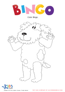 The Bingo Song: Coloring The Dog PDF Worksheet