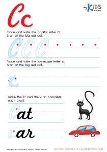 Cursive Letters Worksheets | Letter C Tracing PDF