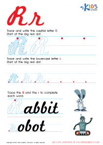 Cursive Letters Worksheets | Letter R Tracing PDF