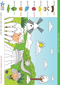 Coloring Pages: Color the Sheep in the Field