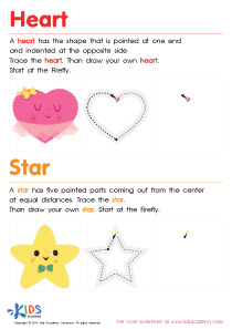 Geometric Shapes for Kids: Let's Learn to Draw Hearts And Stars PDF
