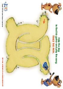 Printable PDF Mazes For Kids: Guitar Player