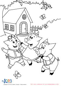Folktales Printable PDF Worksheets: The 3 Little Pigs