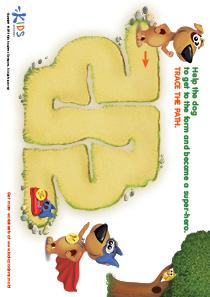 Printable PDF Mazes For Kids: Superman