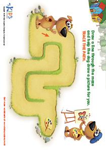 Printable PDF Mazes For Kids: Artist