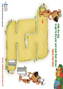 Printable PDF Mazes For Kids: Cook