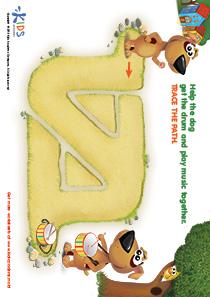 Printable PDF Mazes For Kids: Drummer