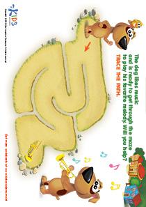 Printable PDF Mazes For Kids: Trumpeter