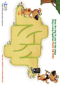 Printable PDF Mazes For Kids: Singer