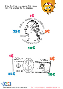 Printable Money Games and PDF Worksheets: Connecting the Values