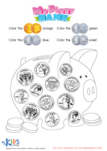 Printable Money Games and PDF Worksheets: Recognizing Money