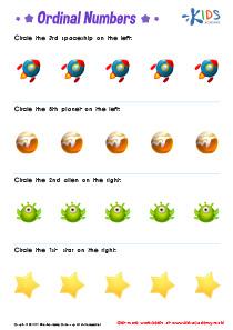 Learn Ordinal Numbers Worksheets PDF