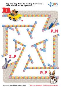 Phonics for Kids | Short Vowel Sound I | PDF Worksheet 1