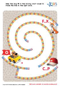 Phonics for Kids | Short Vowel Sound O | PDF Worksheet 1
