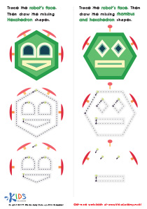 Geometric Shapes for Kids: Practice Drawing Hexahedrons And a Rhombus PDF