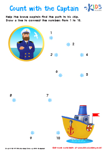 Connect the Dots Numbers 1-10 PDF