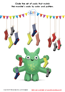 Math Game: Connecting the Monster's Socks