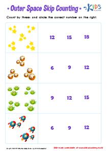 Counting by 3's Printable Worksheet