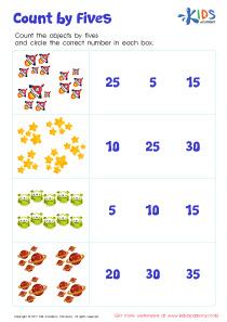 Count by 5's Printable Worksheet