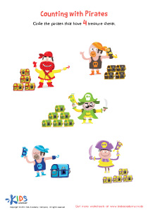 Counting with pirates worksheet