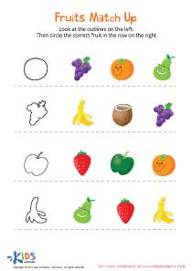 Fruits Matching Worksheet